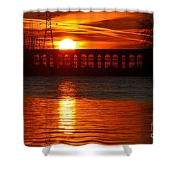 Solar Power Shower Curtain by Sue Stefanowicz