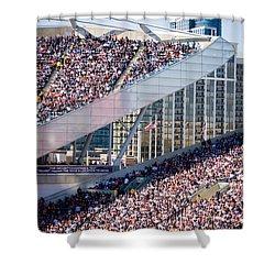 Soldier Field Crowd Shower Curtain