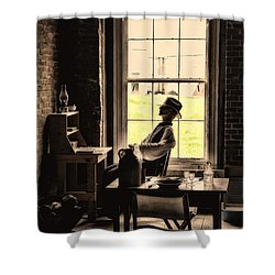 Soldier Of Old Times Shower Curtain by Karol Livote