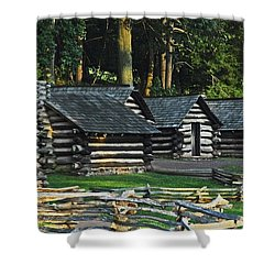 Soldiers Quarters At Valley Forge Shower Curtain by Cindy Manero