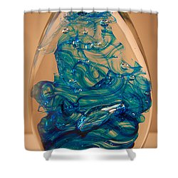 Solid Glass Sculpture E10 Shower Curtain by David Patterson