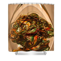 Solid Glass Sculpture E1p Shower Curtain by David Patterson