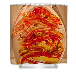 Solid Glass Sculpture Ef Fire Shower Curtain by David Patterson