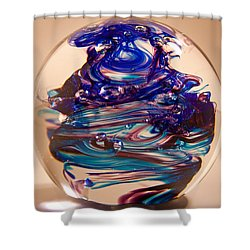 Solid Glass Sculpture R2 Shower Curtain by David Patterson
