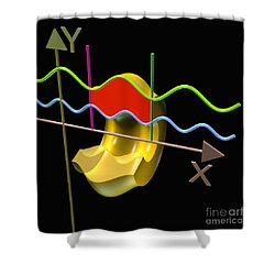Solid Of Revolution 3 Shower Curtain by Russell Kightley