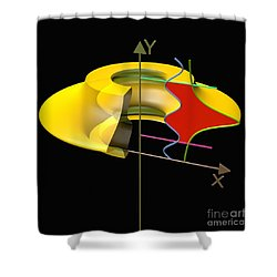 Solid Of Revolution 6 Shower Curtain by Russell Kightley