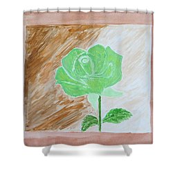Shower Curtain featuring the painting Solitary Rose by Sonali Gangane