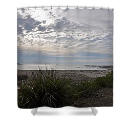 Solitary Sea Kayak At Dawn In Australia Shower Curtain