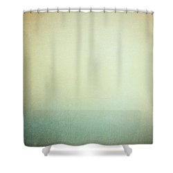 Solitary Ships Shower Curtain by Silvia Ganora