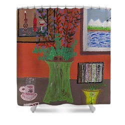 Solitude Shower Curtain by Carol  Eliassen