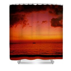 Solo Shower Curtain by Kurt Van Wagner