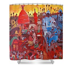 Some Of The History1 Shower Curtain by Mohamed Fadul
