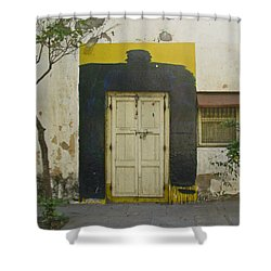 Shower Curtain featuring the photograph Somebody's Door by David Pantuso