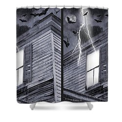 Something Wicked - Cross Your Eyes And Focus On The Middle Image Shower Curtain by Brian Wallace