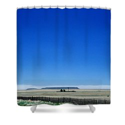 Shower Curtain featuring the photograph Somewhere On Hwy 285 Number One by Lon Casler Bixby