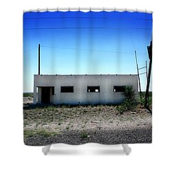 Shower Curtain featuring the photograph Somewhere On The Old Pecos Highway Number 1 by Lon Casler Bixby