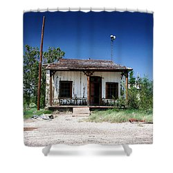 Shower Curtain featuring the photograph Somewhere On The Old Pecos Highway Number 3 by Lon Casler Bixby