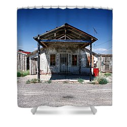 Shower Curtain featuring the photograph Somewhere On The Old Pecos Highway Number 4 by Lon Casler Bixby