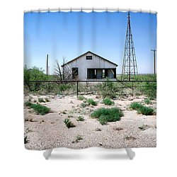 Shower Curtain featuring the photograph Somewhere On The Old Pecos Highway Number 5 by Lon Casler Bixby