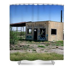 Shower Curtain featuring the photograph Somewhere On The Old Pecos Highway Number 7 by Lon Casler Bixby