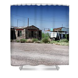 Shower Curtain featuring the photograph Somewhere On The Old Pecos Highway Number 8 by Lon Casler Bixby