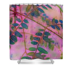 Song Of The Honey Locust Shower Curtain by Judi Bagwell