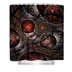 Shower Curtain featuring the digital art Soul Of Osiris by NirvanaBlues