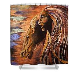 Soul Of Wild Horse Shower Curtain by Karen  Ferrand Carroll