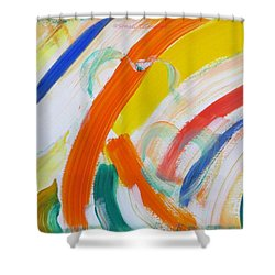 Shower Curtain featuring the painting Souls by Sonali Gangane