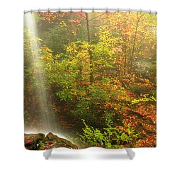 Sounds Of Autumn Shower Curtain by Darren Fisher