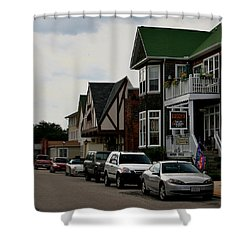 Soundside Village Shower Curtain by Karen Harrison