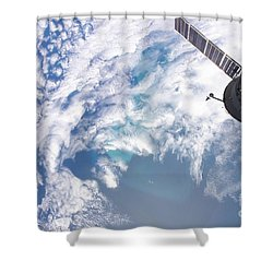 South Atlantic Plankton Bloom Shower Curtain by Stocktrek Images