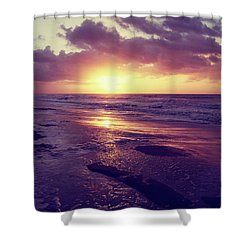 Shower Curtain featuring the photograph South Carolina Sunrise by Phil Perkins