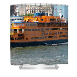 South Ferry Water Ride1 Shower Curtain by Terry Wallace