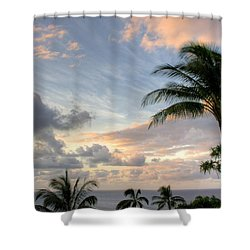 South Seas Sunset Shower Curtain by John  Greaves