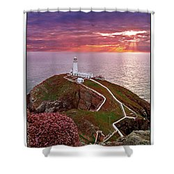 Shower Curtain featuring the photograph South Stack Lighthouse by Beverly Cash
