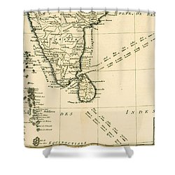 Southern India And Ceylon Shower Curtain by Guillaume Raynal