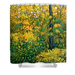 Southern Woods Shower Curtain by Jeanette Jarmon