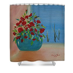 Shower Curtain featuring the painting Southwestern 1 by Judith Rhue