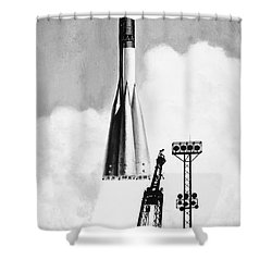 Soviet Soyuz Rocket, 1975 Shower Curtain by Granger