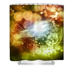 Space Background Shower Curtain by Les Cunliffe