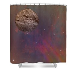 Space Shower Curtain by Brian Roscorla