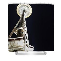 Space Needle Shower Curtain by Heidi Smith