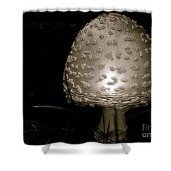 Space Oddity Earthling Shower Curtain by Trish Hale