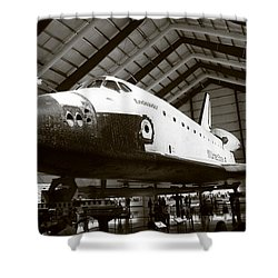 Space Shuttle Endeavour Shower Curtain by Nina Prommer