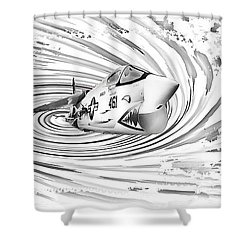 Spaceship Vertigo Shower Curtain
