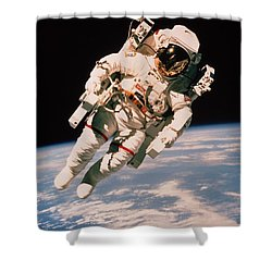 Spacewalk Shower Curtain by NASA / Science Source
