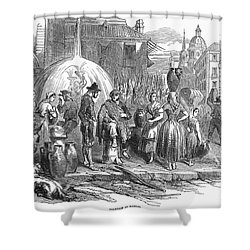 Spain: Madrid, 1848 Shower Curtain by Granger