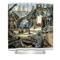 Spanish Armada Shower Curtain by Granger