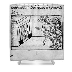 Spanish Conquest Shower Curtain by Granger